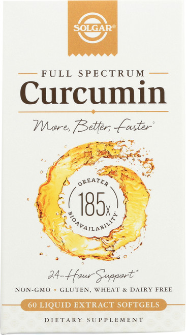 Curcumin Full Spectrum 185x 24 Hour Support 60 Softgels
