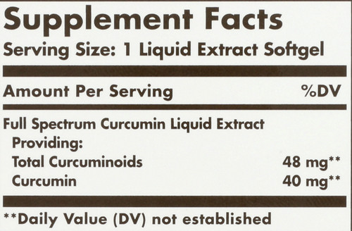 Curcumin Full Spectrum 185x 24 Hour Support 30 Softgels