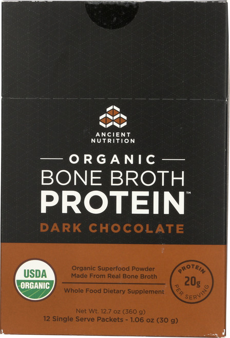 ORGANIC BONE BROTH PROTEIN - DARK CHOCOLATE