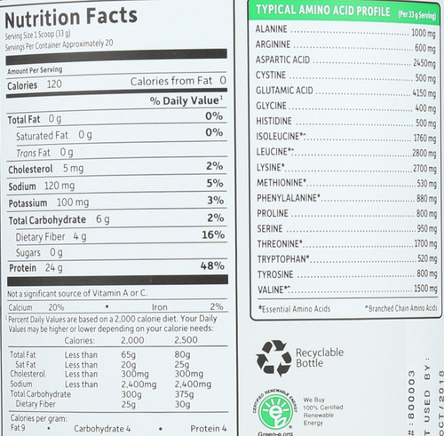 Certified Grass Fed Whey - Vanilla 652G Powder