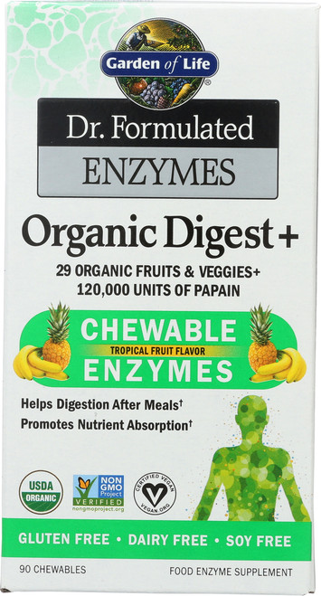 Dr. Formulated Enzymes Organic Digest 90 Chewables