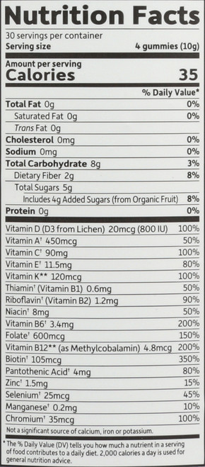 mykind Organics Prenatal Multi Gummies 120 Count