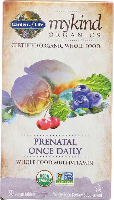 mykind Prenatal Once Daily 30 Organic Tablets
