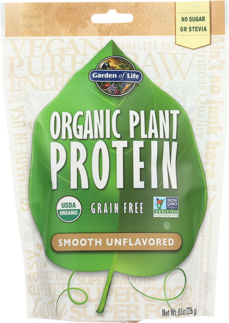 Organic Plant Protein Unflavored 226G Powder