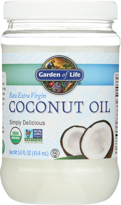 Raw Organic Extra Virgin Coconut Oil 14oz