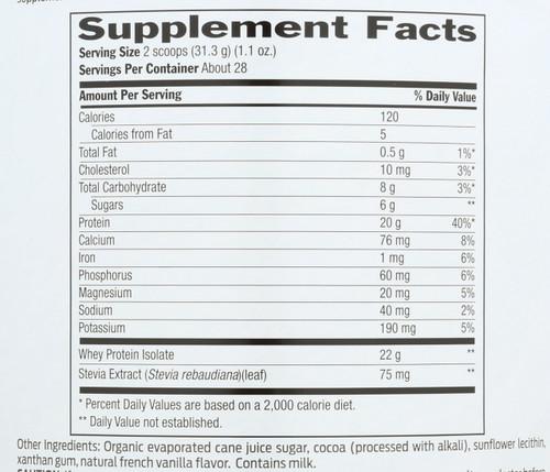 Whey Protein Chocolate 30.9 Oz