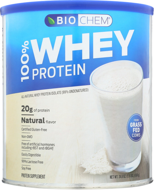 100% Whey Protein Natural All-Natural Whey Protein Isolate (99% Undenatured) 24.6 Oz