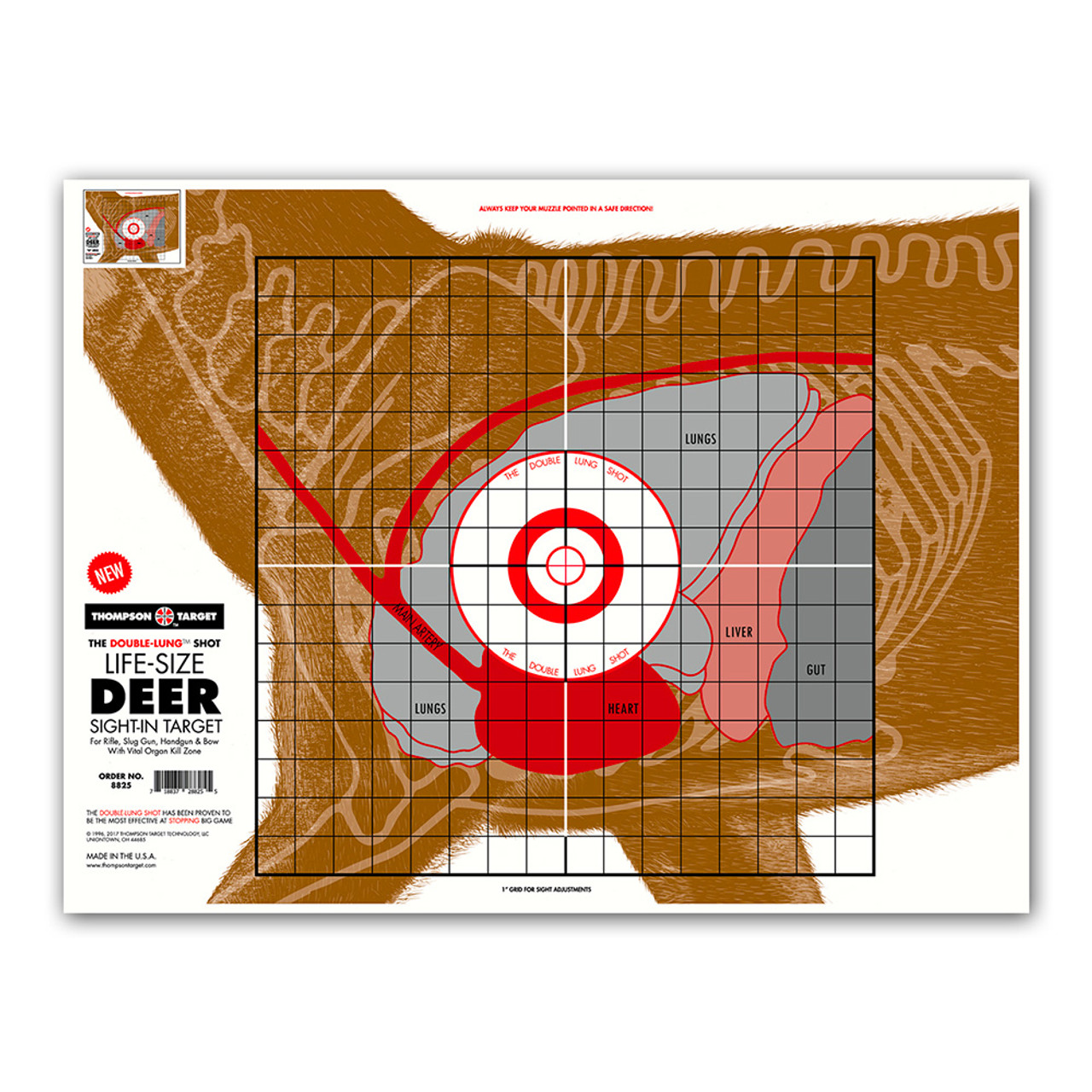 Genius image with deer vitals target printable
