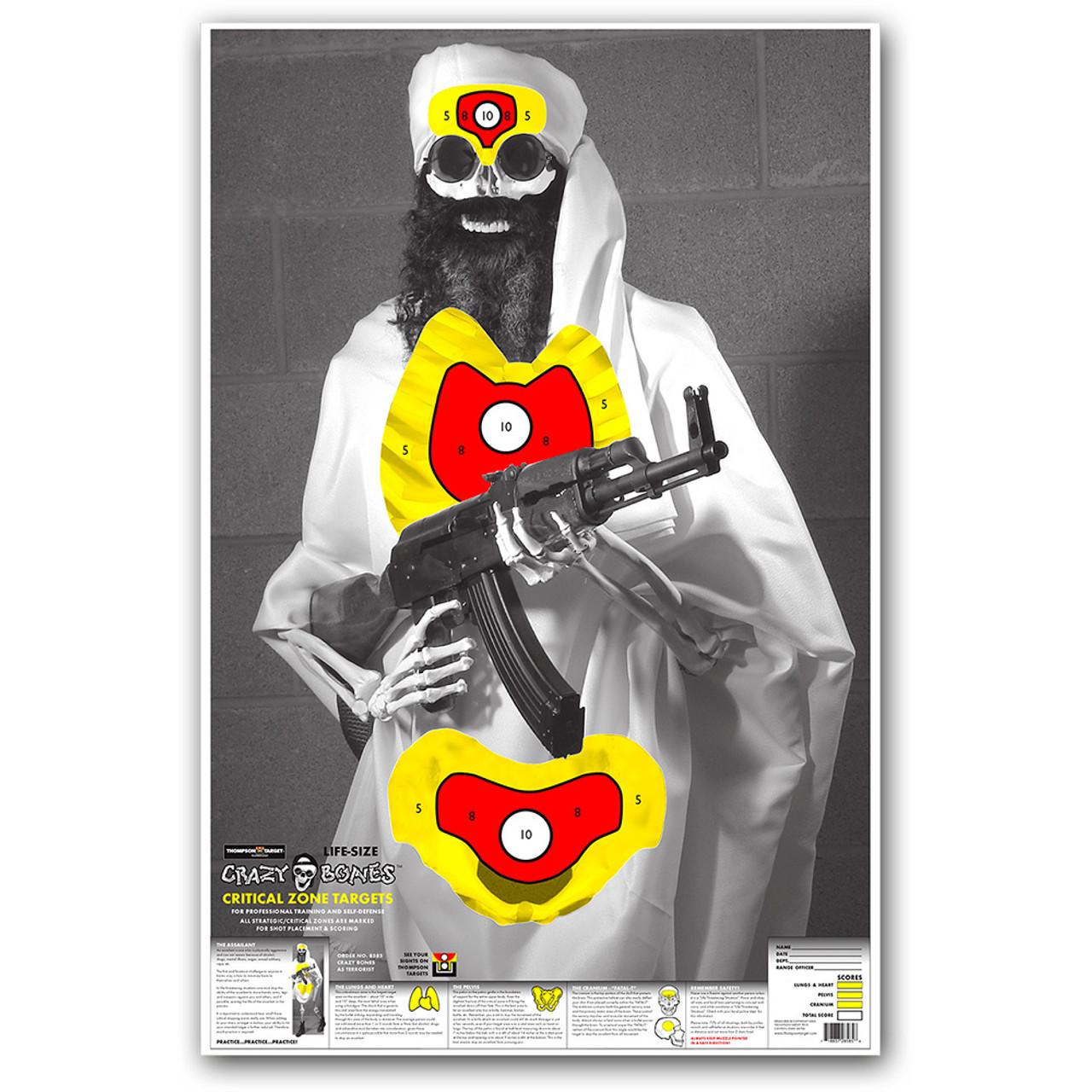 """CB Terrorist 25""""x38"""" ISIS Osama Bin Laden Terrorist Targets Osama Bin Laden Targets For Shooting"""