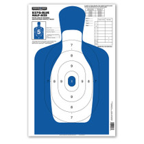 B27Q-BLUE Half-Size Silhouette Shooting Targets by Thompson