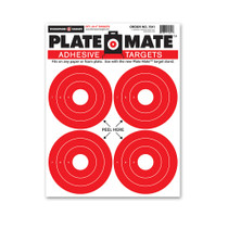 "Thompson Target 4"" Bright Red Adhesive Rifle and Pistol Shooting Targets"
