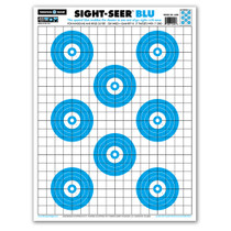 Sight Seer Blu Bullseye Paper Shooting Targets by Thompson