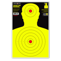 "Center-Fire Life Size Human Silhouette 12.5""x19"" Shooting Target from Thompson"