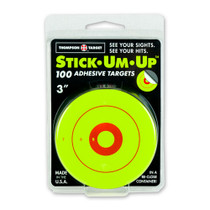 """Thompson Target Stick-Um-Up 3"""" Bright Green Adhesive Shooting Targets - Front"""