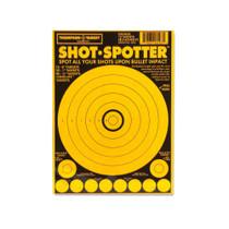 Shot Spotter Light Orange Adhesive Peel & Stick Gun Shooting Targets by Thompson
