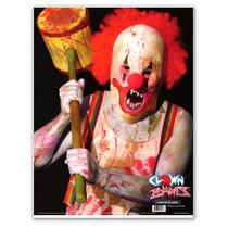 "Clown 19""x25"" Paper Zombie Shooting Target for Gun Fun by Thompson"