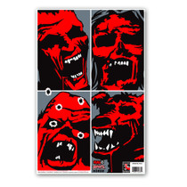HALO Zombie Horde Reactive Splatter Shooting Targets by Thompson