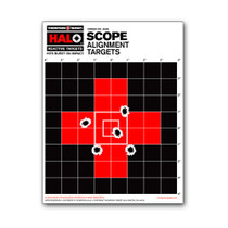 HALO Scope Sight In Zeroing Alignment Reactive Splatter Gun Shooting Targets by Thompson