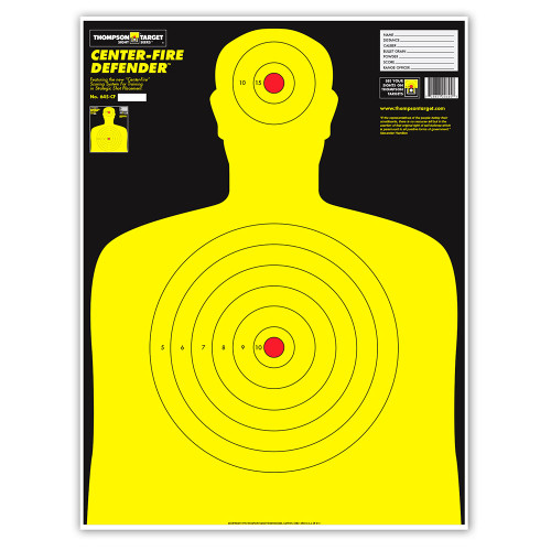 Center-Fire Life Size Human Silhouette Paper Shooting Targets by Thompson