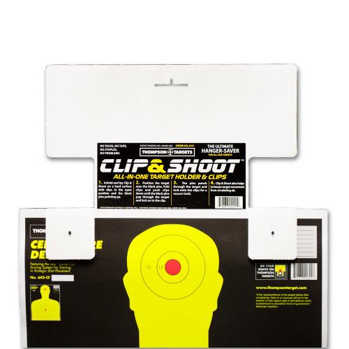 Clip & Shoot Indoor Shooting Range Target Hanger Holder by Thompson