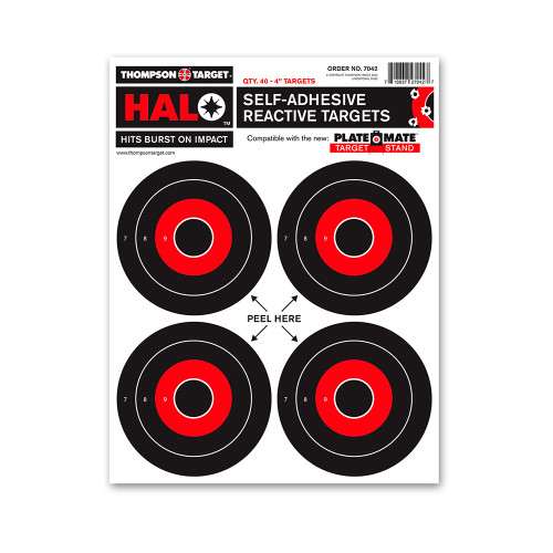 """HALO 4"""" Reactive Splatter Adhesive Peel and Stick Gun Shooting Targets by Thompson"""