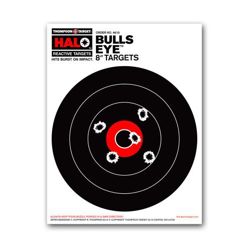 """HALO 8"""" Bullseye Reactive Splatter Gun Shooting Targets by Thompson"""