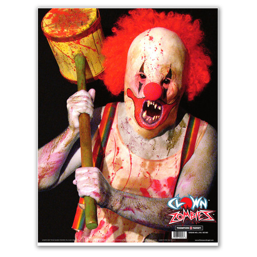 "Clown 19""x25"" Paper Zombie Shooting Target for Gun Fun by Thompson"