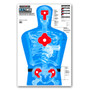 B27-IMZ Life Size Human Silhouette Indoor Gun Range Training Paper Shooting Targets for handgun, pistol, & rifle by Thompson
