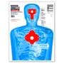 """B27-IMZ Upper Torso 19""""x25"""" Human Silhouette Shooting Targets by Thompson"""