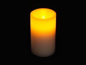 5″ LED Wax Pillar Candle