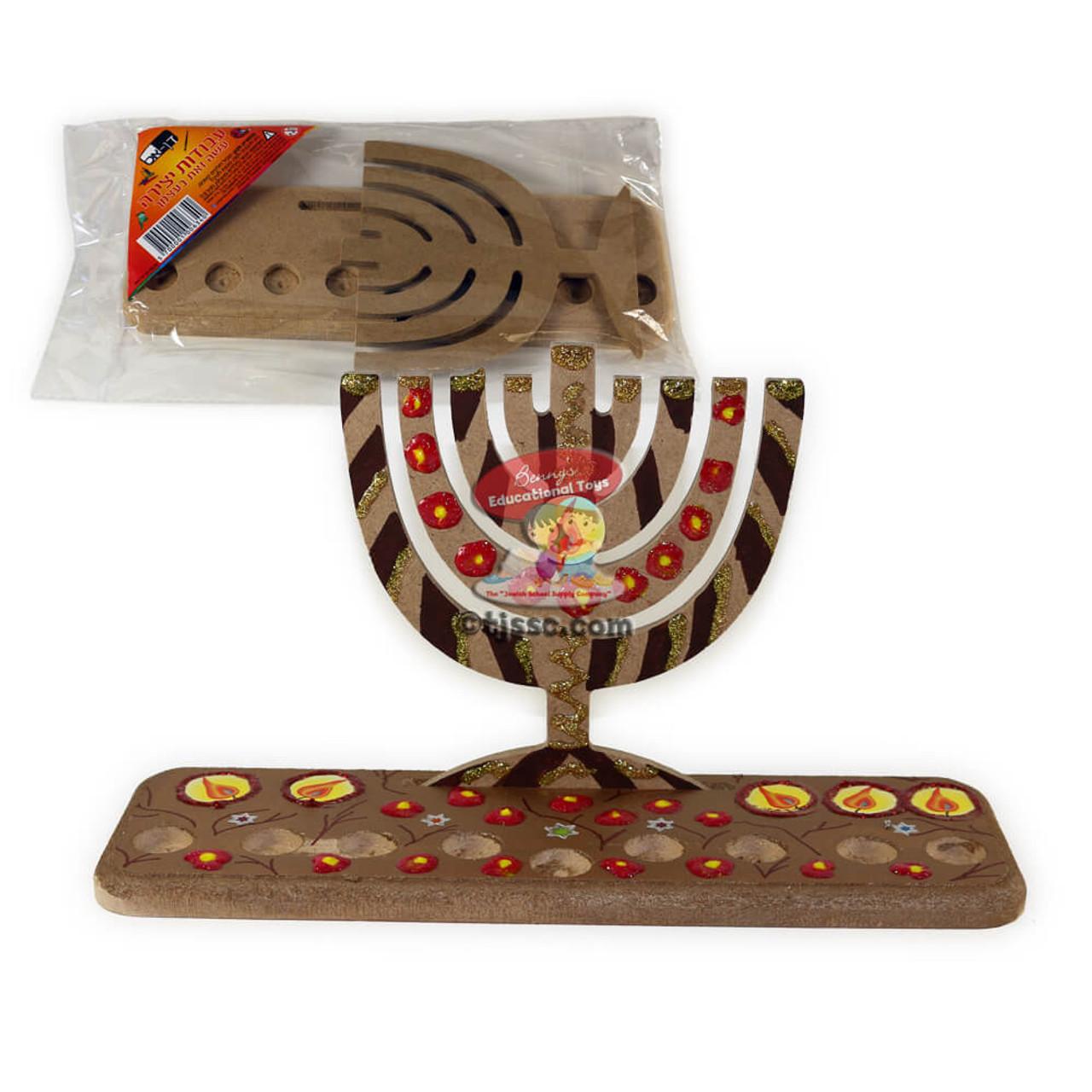 mdf upright hanukkah menorah menorah design d i y craft project