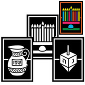 Hanukkah (Chanukah) Stained Glass Project
