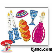 Shabbat Prismatic Stickers