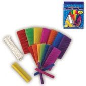 Hanukkah (Chanukah) Bees Wax Candle Kit for 44 Candles