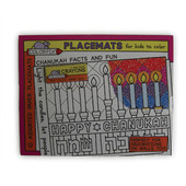 Hanukkah (Chanukah) Placemats for Coloring Hanukkah arts and craft project