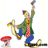 Purim Clown Card Stock Cut Outs