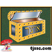 Treasure Box Mitzvah Chart Card Stock