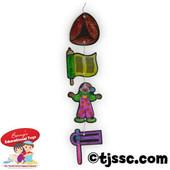 Translucent Purim Plastic Mobiles for Coloring (18)