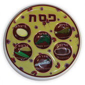 Disposable seder plate (tray) - Flower