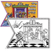 Simchat Torah Flags, B&W for decoration