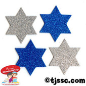 Star of David Glittering Foam Shapes