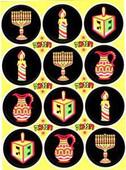 Neon Hanukkah (Chanukah) Stickers