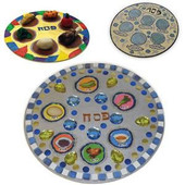 Medium Wooden Seder Plate for Decorating