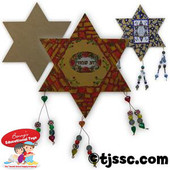 Large Wooden Star of David for Decoration
