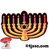 Fluorescent Glow Menorah Cut-Outs