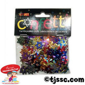 Metallic Colorful Star of David Confetti