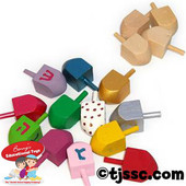 Small Wooden Dreidels for Decoration