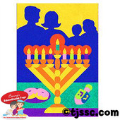 Hanukkah (Chanukah) Family Celebration Self-Adhesive Sand Art Boards