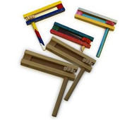 Natural Wood Purim Graggers for decoration
