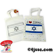 Israeli Flag Tote Bag Craft Project